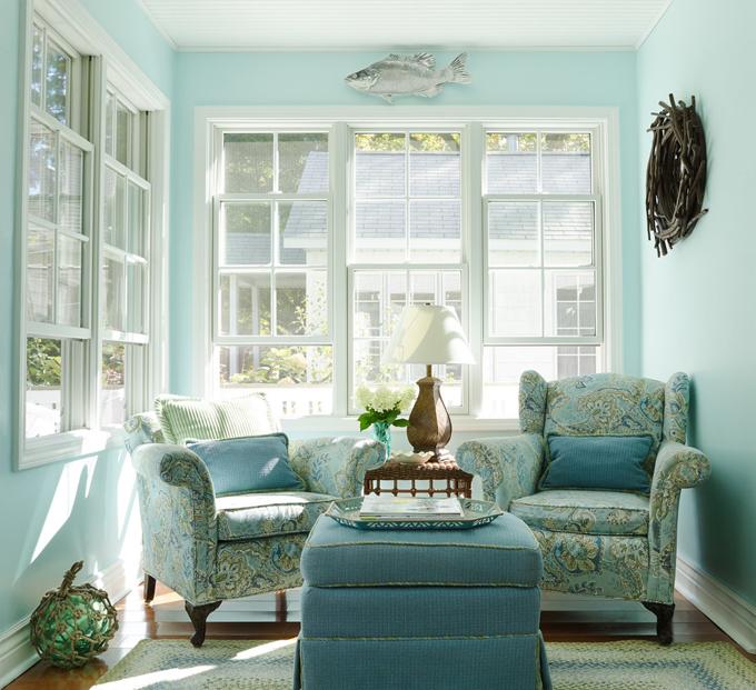 Sơn nhà màu xanh với sự biến đổi màu sắc đa dạng ấn tượng